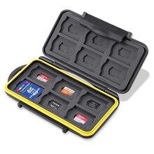 Resistente al agua resistente a los golpes tarjeta de memoria porta maletas 24 ranuras para SD SDHC SDXC y Micro SD TF