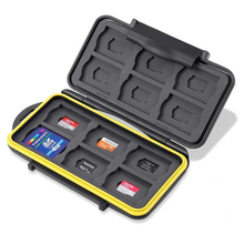 Tough Water Shock Resistant Protector Memory Card Carrying Case Holder 24 Slots for SD SDHC SDXC and Micro SD TF
