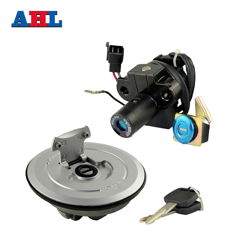 Motorcycle Ignition Switch Lock Kit Fuel Gas Tank Cap Include Key For HONDA CB250F VTR250 Hornet250 1998-2001