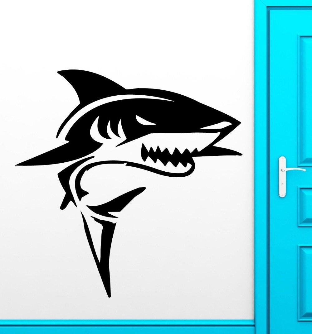 New aquarium shop vinyl wall decal shark