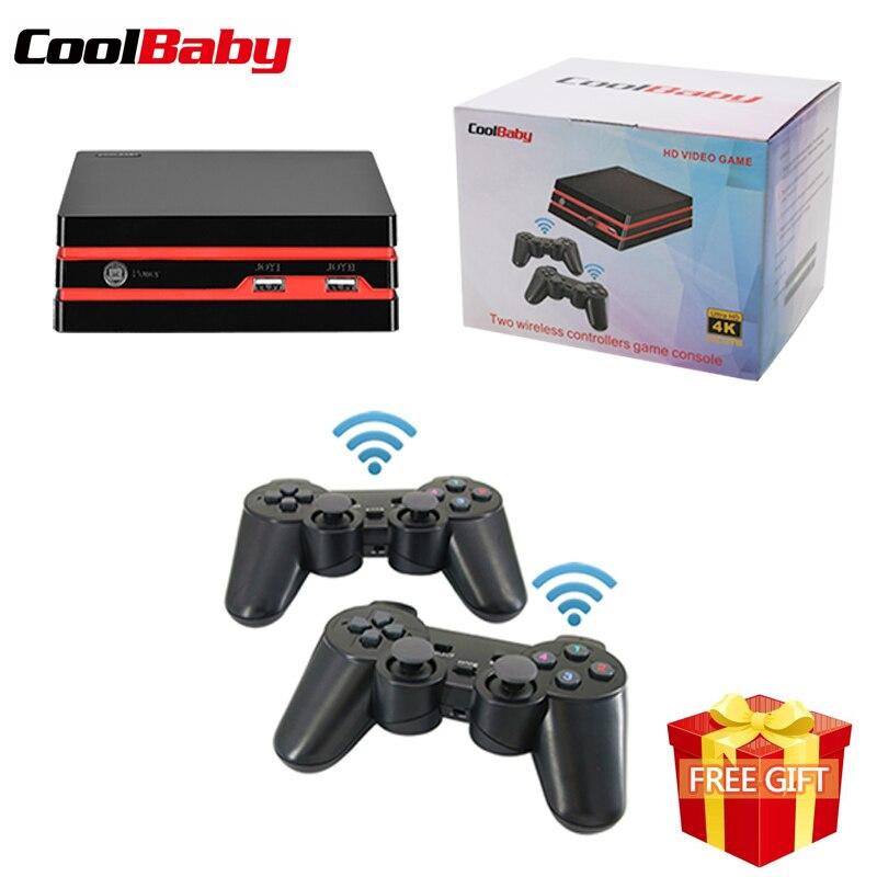 Consola de videojuegos Coolbaby HDMI con 2,4G dos controladores inalámbricos 600 juegos clásicos para GBA/SNES familia TV retro juego de consola-in Reprouctores de juegos portátiles from Productos electrónicos on AliExpress - 11.11_Double 11_Singles' Day 1
