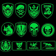 3D Illuminating PVC Patch In The Rubber Band Behind The SWAT Team Stripe Rubber Patch Army Hook Face Morale Tactical Decal Logo(China)