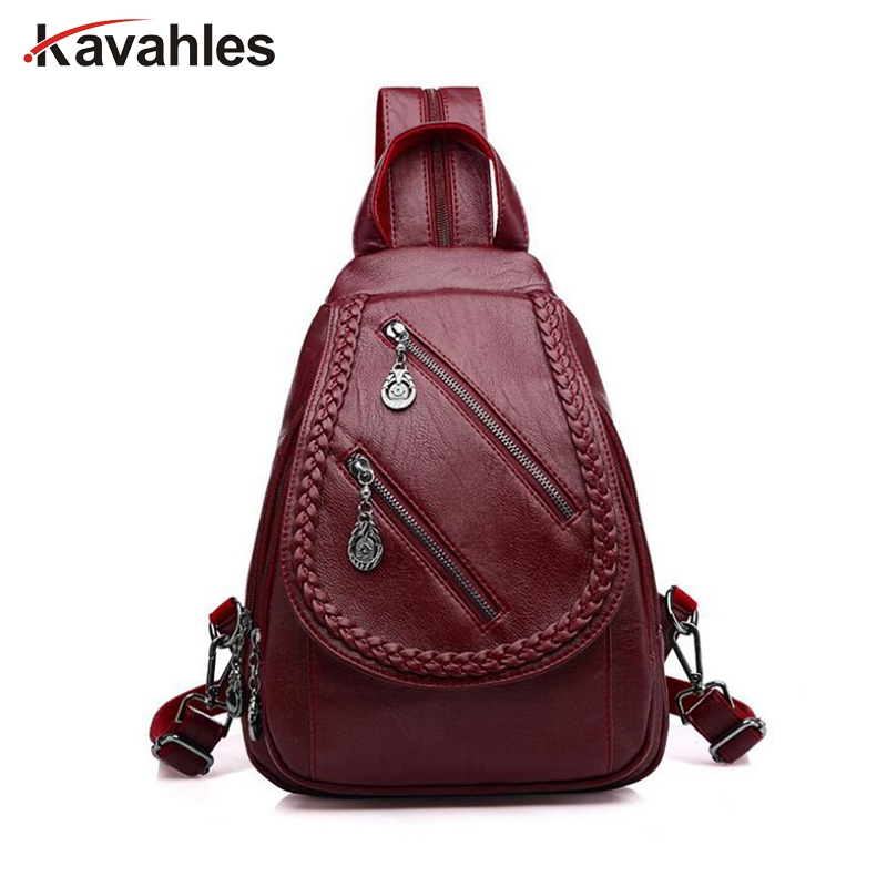 Double Zipper Leisure Women Backpack PU Leather Backpacks Female School Shoulder Bags for Teenage Girls Travel Back Pack PP-1187 2018 soft women backpacks women s pu leather backpacks female school backpack women shoulder bags for teenage girls travel back