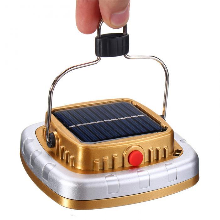 Led lanterna de acampamento solar usb recarregável