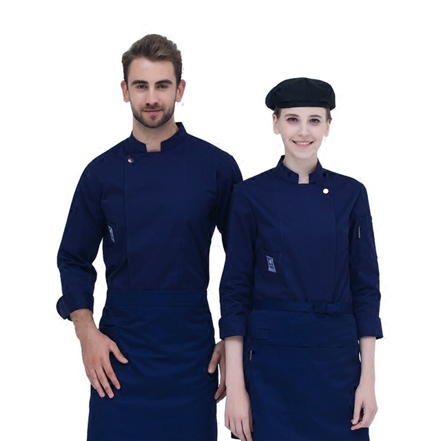 2017 7-Colors Autumn & Winte Chef Coats Jackets Uniform Hotel Restaurant Kitchen Long-sleeve Man and Woman Work Wear Clothes