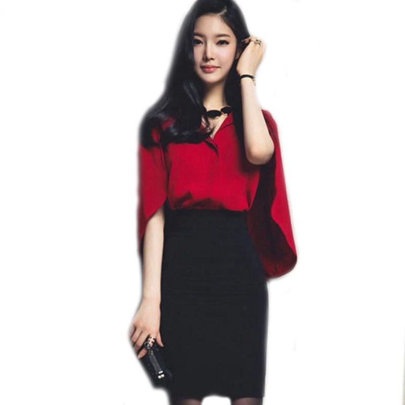 Womens-2-Piece-Set-Summer-Style-Short-Bat-Sleeve-Chiffon-Blouse-Shirt-Cloak-Women-Knee-Length (1)