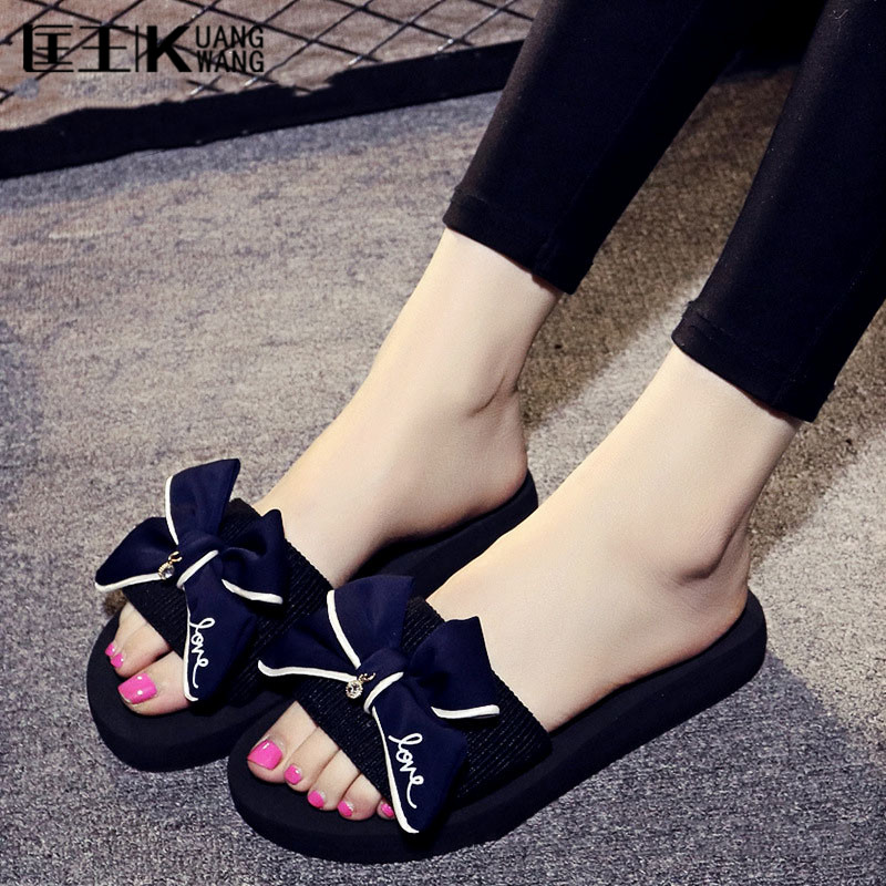 fashion Women's sandals with platform flip flops slippers for women sandals women summer flat sandals sandalias mujer 2016 new summer peep toe flat platform buckle cross tied genuine leather horse hair women sandals flip flops mujer sandalias