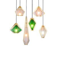 Art Moder small Pendant Lights Kitchen Fixtures For Dining Room Home Hanging Lamp green Glass Restaurant Decor Lighting Lustre