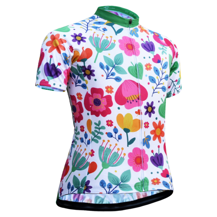 JESOCYCLING Women Cycling Jersey Short Sleeve Cycling Shirt Summer ... f53124136