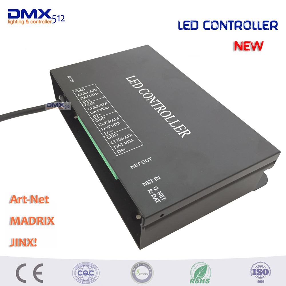 DHL Free shipping hot sale 5PCS/lot led artnet controller 4 universes 512 channels per support MADRIX Jinx etc.can set 10pcs lot hot sale free dhl shipping white and black 100