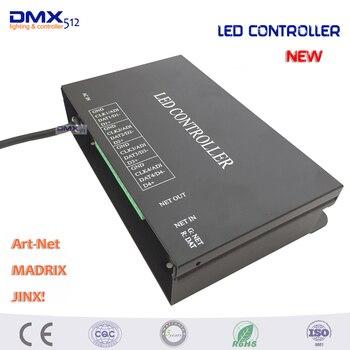 DHL livraison gratuite offre spéciale 5 PCS/lot led artnet contrôleur 4 univers 512 canaux par support MADRIX Jinx etc. peut ensemble