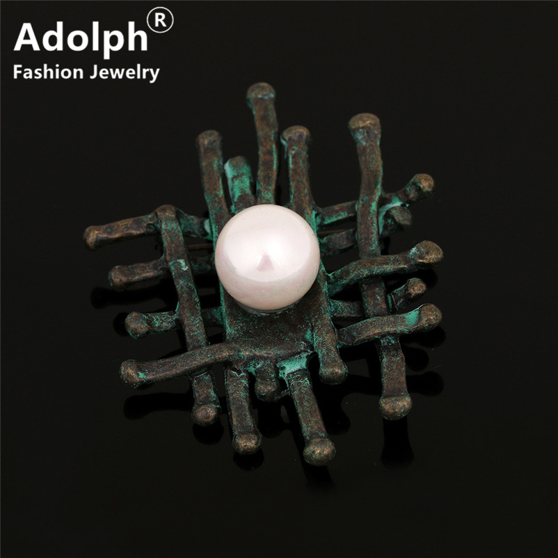 ADOLPH Jewelry Vintage Simulated Pearl Brooch Pins For Woman Clothers Dress Retro Bride Broochs Fashion Accessories Female New