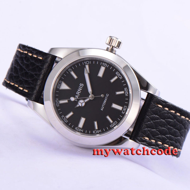 40mm parnis black dial sapphire glasss miyota automatic mens wrist watch P517 40mm parnis white dial vintage automatic movement mens watch p25