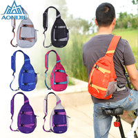 AONIJIE Men Women Sport Chest Bag Running Cycling Backpack Basketball Bag Polyester Waterproof Outdoor Sport Rucksack