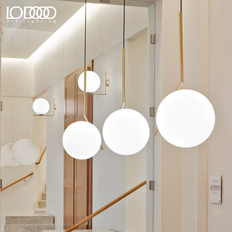 LODOOO Modern Led Pendant Lights For Living Study Dining Room Bedroom Hanging E27 Metal Glass Bubble Nordic Pendant Lamp Fixture bdbqbl modern iron pendant light for living room bedroom foyer study hanging lights white led pendant lamp lighting fixture