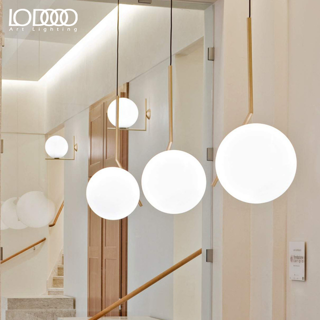 Alibaba aliexpress lodooo lodooo modern led pendant lights for living study dining room bedroom hanging e27 metal glass bubble mozeypictures Image collections