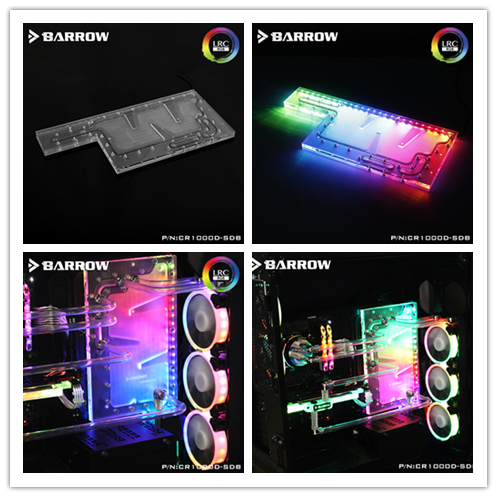CR1000D-SDB Barrow watercooling waterway board block for CORSAIR 1000D computer case LRC rgb 2.0 5V lighting system