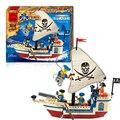 Enlighten 188 unids barco pirata ladrillos de construcción bloques establece intelectual ensamblar juguetes figuras juguetes para niños