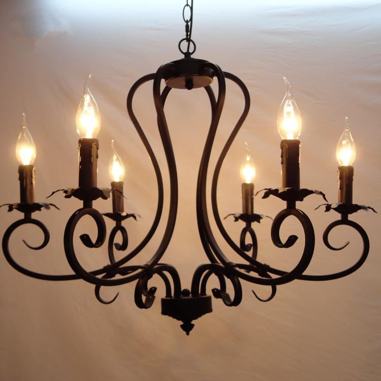 American style lamp pendant chandelier light iron lamp light living room dining room chandelier lighting
