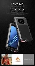 Samsung Galaxy A8 2018 Durumda AŞK MEI Şok Kir Geçirmez Su Geçirmez Metal Zırh Kapak telefon kılıfı Galaxy A8 artı 2018