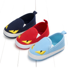 Autumn/Spring Baby Canvas Shoes Cute Monster Fashion Boys Girls Prewalker Soft Toddler Casual Shoes For 1 Year Old