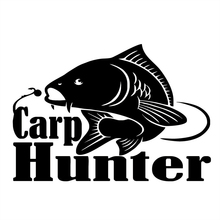 20.5cm*14.3cm Carp Hunter Fishing Fashion Vinyl Stickers Decals Decor S4-0013
