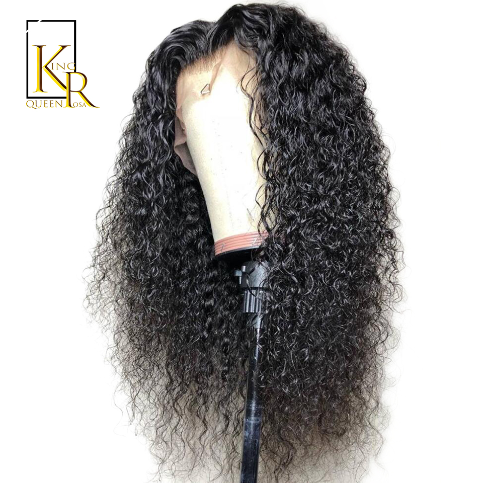 Curly Lace Front Human Hair Wigs For Black Women Bleached Knot Brazilian Lace Frontal Baby Hair