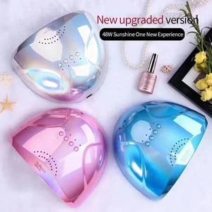 Image 1 - 새로운 도착 다채로운 48W SUNONE 네일 젤에 대 한 전문 LED UV 네일 램프 폴란드어 led 네일 라이트 네일 건조기 UV 램프