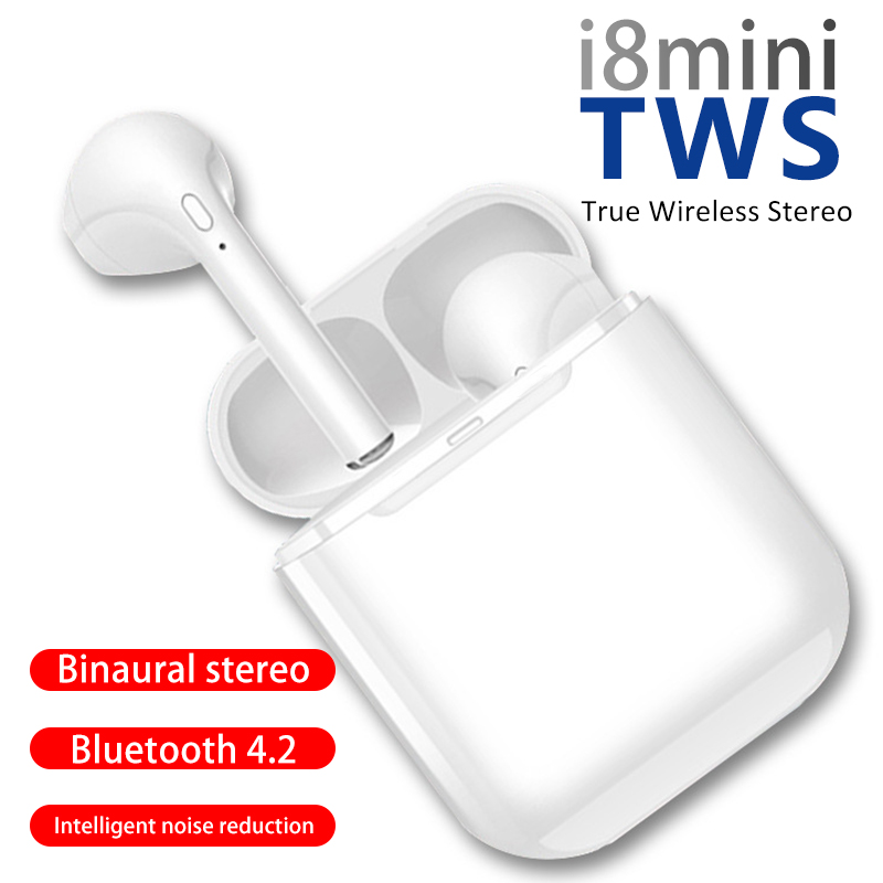 <font><b>i8</b></font> Mini <font><b>TWS</b></font> Wireless Bluetooth Headphones <font><b>Earphone</b></font> Sport Stereo Bluetooth Headset Earbuds with Charging Box for Smart Phone image