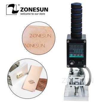 ZONESUN hot stamping machine 8*10cm 500W Handheld leather wood paper embossing tool manual logo embosser, wood branding iron - DISCOUNT ITEM  10 OFF Home Appliances