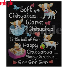 diy diamond embroidery chihuahua dog texts 5d painting full square cross stitch mosaic picture of rhinestones home decor