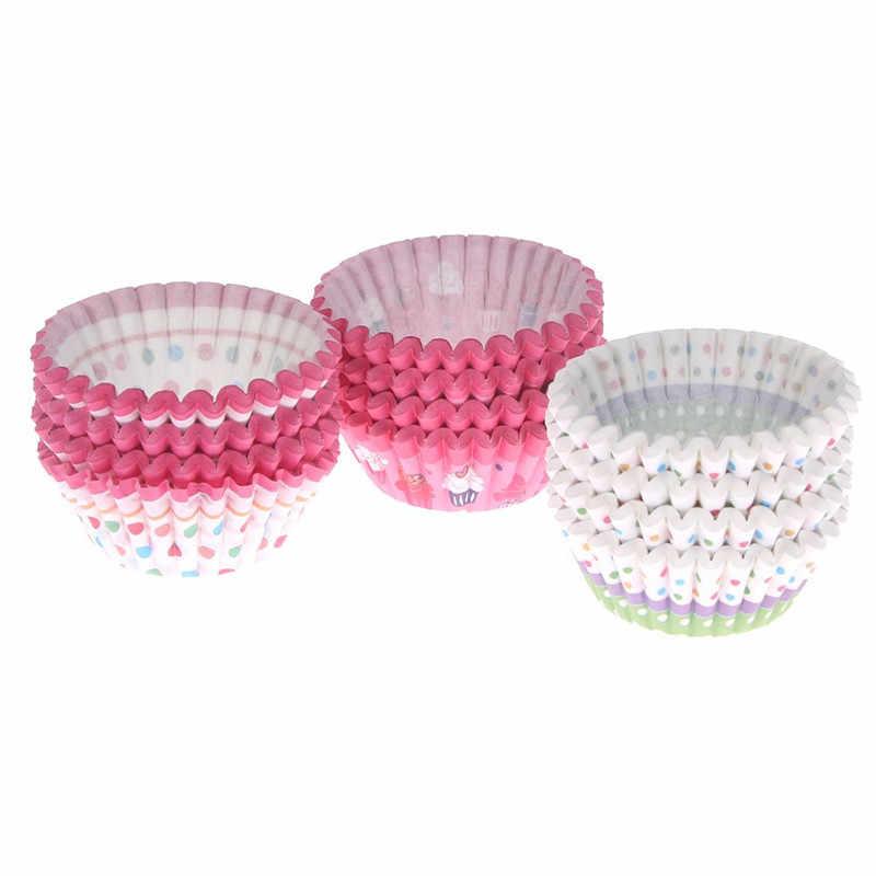 LINSBAYWU 100 adet yumuşak yuvarlak cupcake liner kek kapları cupcake kağıt muffin kutuları kek kutusu bardak tepsisi kek kalıp dekorasyon araçları