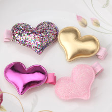 Children Summer Style Metal Color Shiny Butterfly Hairpins Girls Hair Accessories Heart Star Hair Clip for Baby Dress(China)