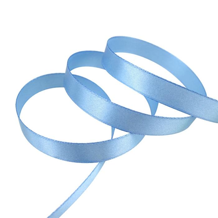 25 ярдов/рулон) атласная лента оптом, подарочная упаковка, рождественские украшения сделай сам, с лентой, с местом для рулон ткани(6/10/12/15/20/25/40 мм - Цвет: Светло-голубой