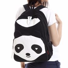 Fashion 3 Color Women Girl Canvas Backpack Cute Panda Rucksack Travel  Shoulder School Campus Bag( 51b53b3b4909f