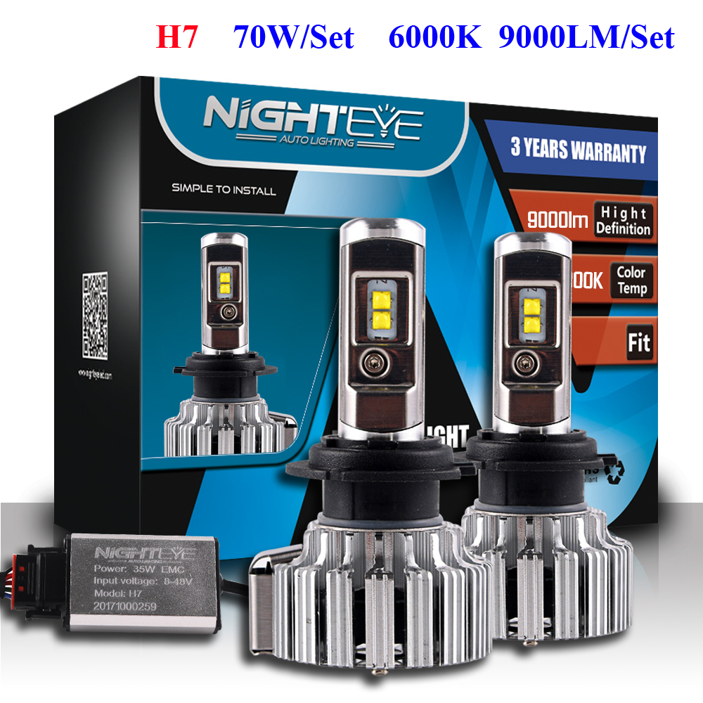 NIGHTEYE-2pcs-Led-Chips-H7-LED-Headlight