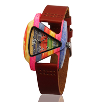 New Fashion Luxury Personality Triangular Couple Models Wooden Watch Retro Men And Women Bamboo Quartz Watch