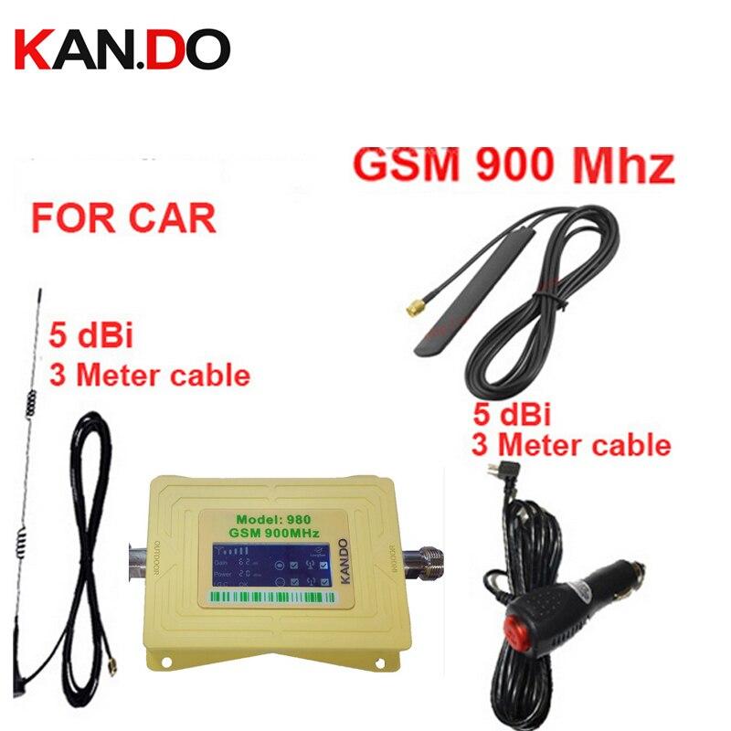 Pour le propulseur de signal de téléphone portable du propulseur GSM 900 Mhz de voiture pour la voiture, affichage d'affichage à cristaux liquides GSM 900 mhz répéteur de signal GSM pour le répéteur de véhicule