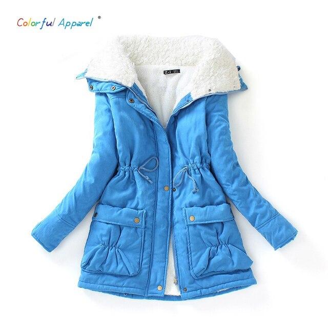 Новый 2016 зима хлопка пальто женщин тонкий плюс размер верхней одежды средней длины толстый ватник с капюшоном хлопка ватные теплый хлопок куртка