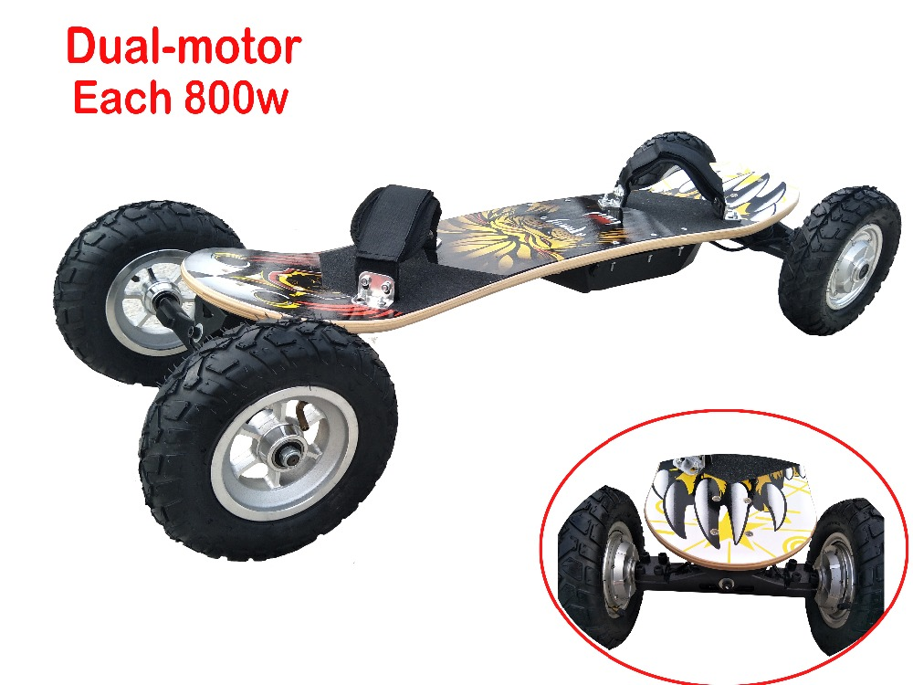 Electric Scooter Off Road Electrical Skateboard 36V Lithium Battery Remote Control 4 Wheels