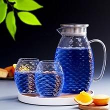 все цены на 1.5L/2L Fish Scale Shape Glass Water Jug Set Cha Tea Pot Pitcher Champagne Cocktail Jug And Cup Lemonade Fruit Juice Drinkware