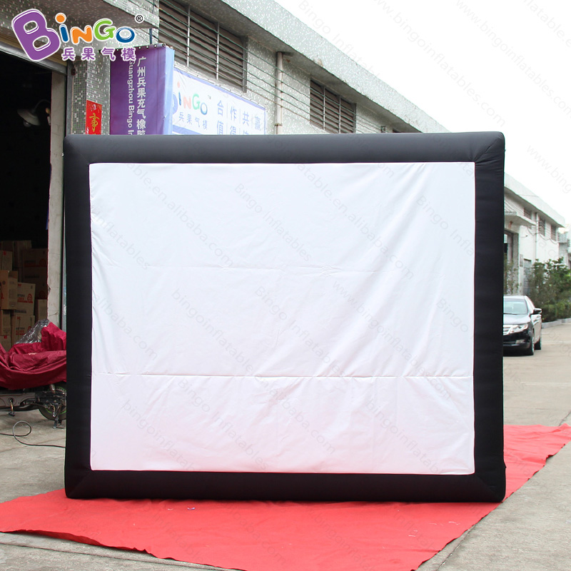 2018 Newly 3X1.6X2.5 meters inflatable movie screen for advertising customized projector screen for outdoor teaching screen tent
