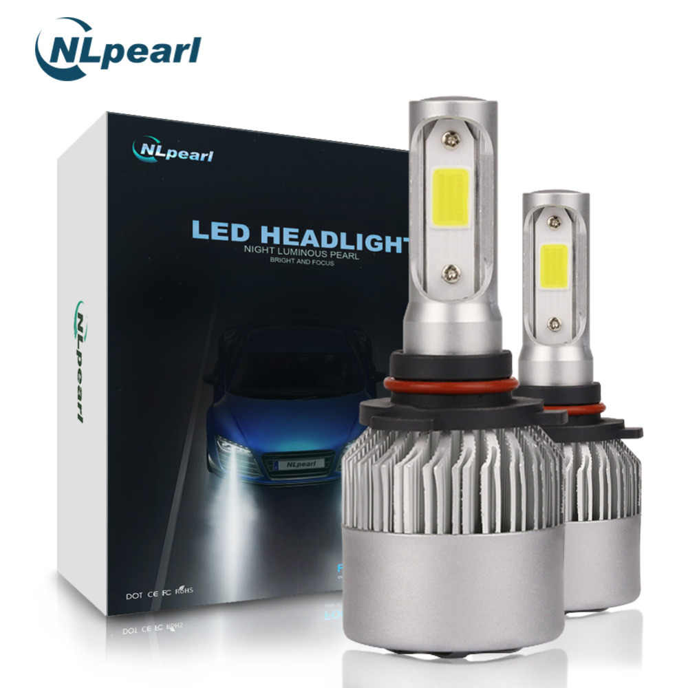 NLpearl 2x S2 8000LM/Set 72W Headlight Bulbs H4 H7 Led Bulb H1 H8 H11 Led 9005/HB3 9006/Hb4 9012 9008 9007 6500k 12V Auto Lamp