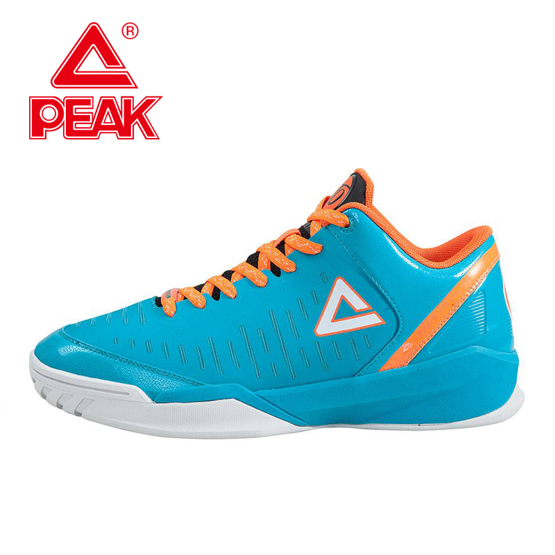 PEAK SPORT Tony Parker II Simple Edition Men Basketball Shoes Wear-resistant Competitions Sneaker Athletic Bas Boots EUR 40-47 peak sport hurricane iii men basketball shoes breathable comfortable sneaker foothold cushion 3 tech athletic training boots
