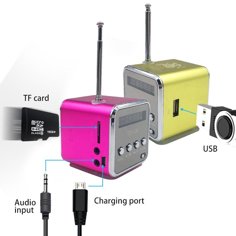 GüNstig Einkaufen Td-v26 Digital Radio Mini Lautsprecher Tragbare Radio Fm Empfänger Akku Unterstützung Sd Tf Karte Musik Spielen Heonyirry Elegant Im Stil Unterhaltungselektronik
