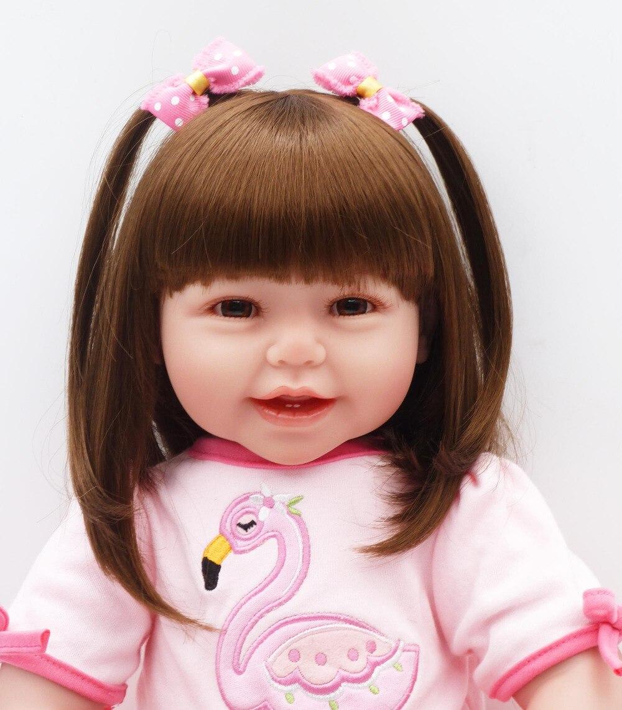 61 cm Silicone reborn baby dolls toys 24 inchs Lifelike Toddler Babies Girl Doll Reborn vinyl doll for girls gifts toy for kids цены