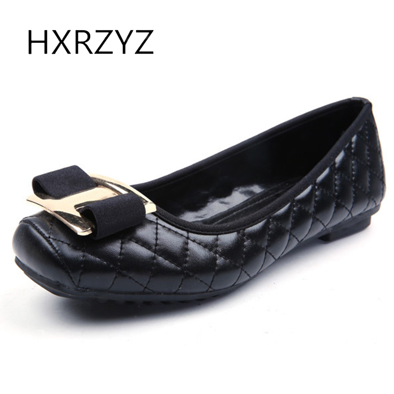 HXRZYZ large size women black flat shoes female leather loafers spring/autumn new fashion square toe metal buckle casual shoes hxrzyz large size women black flat shoes female patent leather loafers spring autumn new fashion pointed toe buckle casual shoes