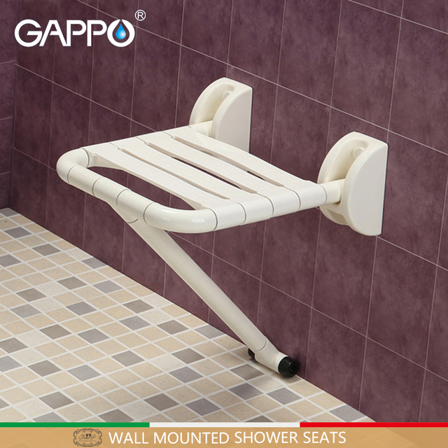 folding chair for bathroom how to make a cover gappo wall mounted shower seat bench elderly toilet chairs bath stool cadeira