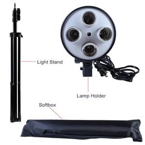 Image 4 - מפזר אור 50*70cm רציף תאורת Softbox עבור 4 in 1 שקע E27 מנורת בעל עם 2Pcs 2M אור Stand ערכת סטודיו צילום