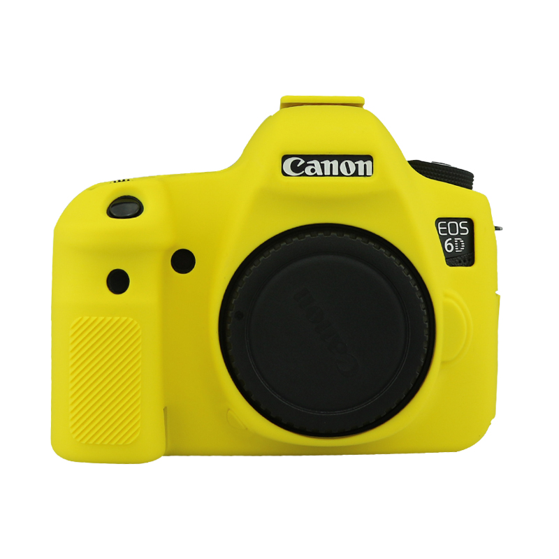 Soft Silicone Rubber Camera Protective Body Cover Case Skin For canon 6D Camera Bag black/Camouflage/Red/yellow